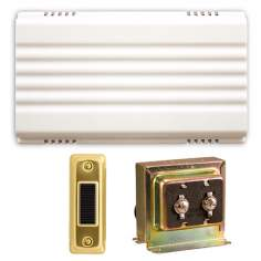 White Battery or Hardwired Door Chime Contractor Kit