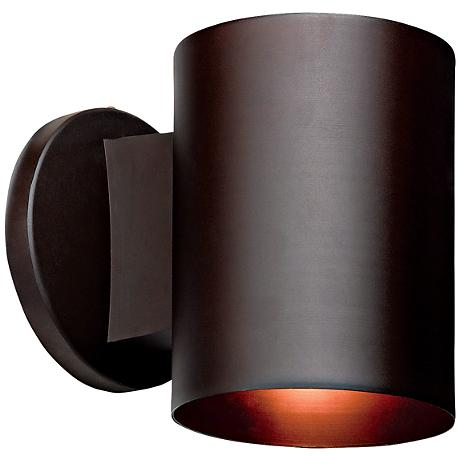 "Poseidon Bronze Tube Downlight 6"" High Outdoor Sconce"