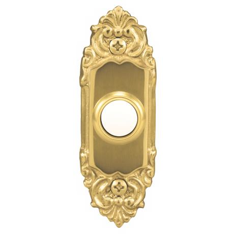 Polished Brass Traditional Lighted Doorbell Button
