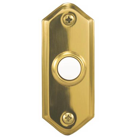 Polished Brass Lighted Push Button Doorbell Button