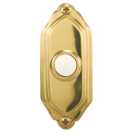 Polished Brass Beveled Lighted Doorbell Button