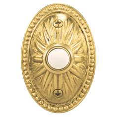 Polished Brass Sand-Casted Lighted Doorbell Button