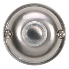 "Satin Nickel 2"" Round LED Doorbell Button"