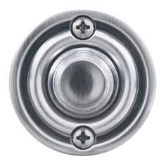 "Satin Nickel 1 3/4"" Round LED Doorbell Button"