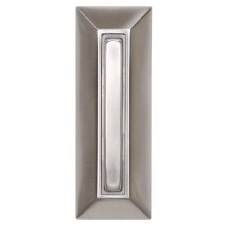 Satin Nickel Rectangular Lighted Doorbell Button