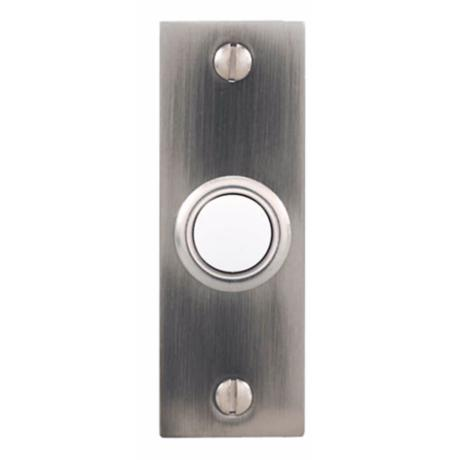 Pewter Bar Style Lighted Doorbell Button