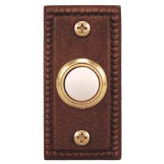 Antique Copper Beaded Lighted Doorbell Button