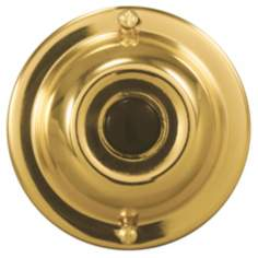 "Basic Series Gold with Black 2 1/4"" Round Doorbell Button"