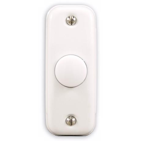 Basic Series White Finish with White Round Doorbell Button