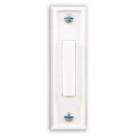 Basic Narrow White Finish with White Bar Doorbell Button