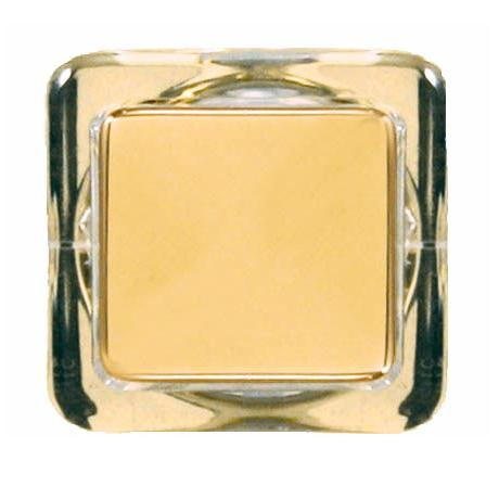 Polished Brass Finish Square Doorbell Button Insert