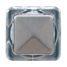 Satin Nickel Finish Square Doorbell Button Insert