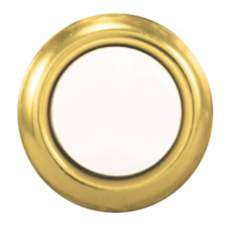 Round Gold and Pearl Replacement Doorbell Button