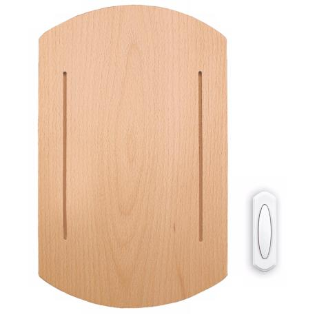 Modern Beech Wood Wireless Door Chime
