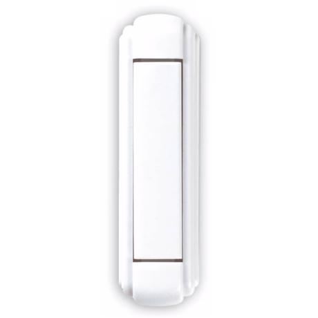 White Surface Mount Square Button Wireless Doorbell Button