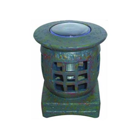 Outdoor Solar Stone Pagoda LED Landscape Accent Light