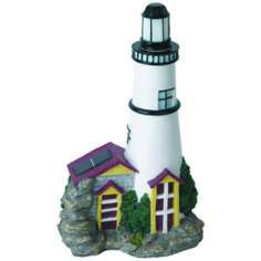 Solar White Lighthouse LED Landscape Accent Light