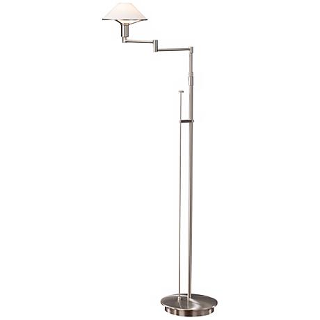 Satin Nickel with True White Glass Holtkoetter Floor Lamp