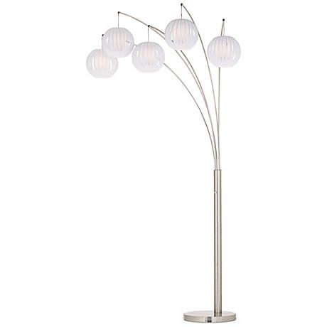 lite source deion 5 light hanging arc floor lamp k6572 With deion 5 light hanging arc floor lamp