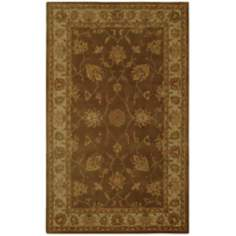 Natural Wool Collection Grantham Brown Area Rug