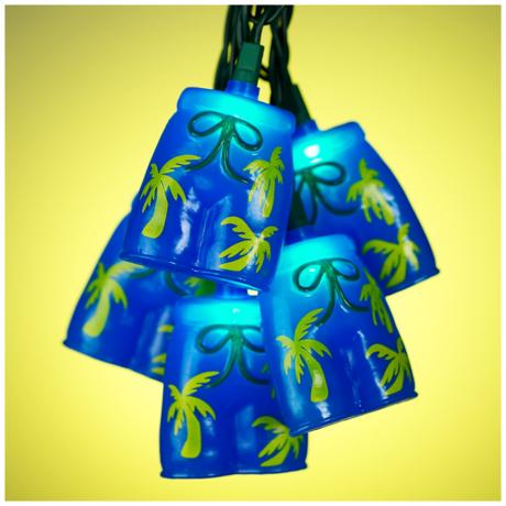 Tropical Bermuda Shorts String Party Lights
