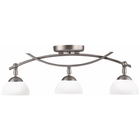 Bellamy Collection Pewter 3-Light Rail Ceiling Light