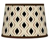 Gray Retro Lattice Tapered Lamp Shade 10x12x8 (Spider)