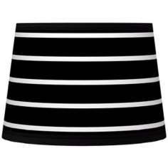 Bold Black Stripe Tapered Lamp Shade 10x12x8 (Spider)