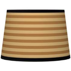 Butterscotch Parallels Tapered Lamp Shade 10x12x8 (Spider)
