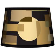 Earthy Geometrics Tapered Lamp Shade 10x12x8 (Spider)