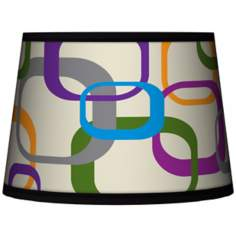 Retro Squares Scramble Tapered Lamp Shade 10x12x8 (Spider)