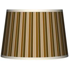 Umber Stripes Tapered Lamp Shade 10x12x8 (Spider)