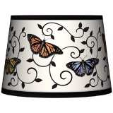 Butterfly Scroll Tapered Lamp Shade 10x12x8 (Spider)