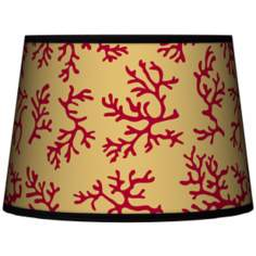 Crimson Coral Tapered Lamp Shade 10x12x8 (Spider)