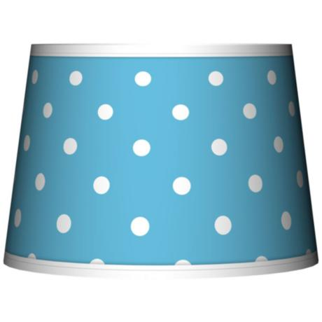 Mini Dots Aqua Tapered Lamp Shade 10x12x8 (Spider)