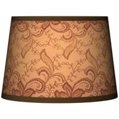 Sepia Lace Tapered Lamp Shade 10x12x8 (Spider)