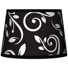 Swirling Vines Tapered Lamp Shade 10x12x8 (Spider)