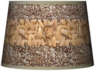 Faux Wicker Lamp Shade