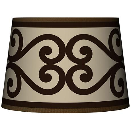 Cambria Scroll Tapered Lamp Shade 10x12x8 (Spider)