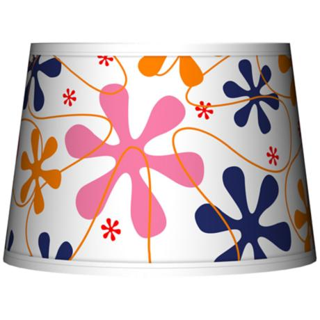 Retro Pink Tapered Lamp Shade 10x12x8 (Spider)