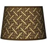 Tan Wailia Tapered Lamp Shade 10x12x8 (Spider)