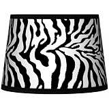 Safari Zebra Tapered Lamp Shade 10x12x8 (Spider)