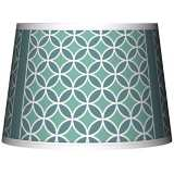 Aqua Rings Giclee Tapered Lamp Shade 10x12x8 (Spider)