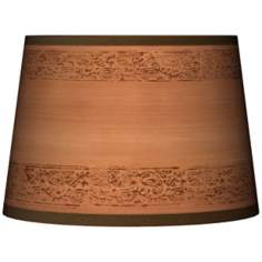 Paisley Trim Tapered Lamp Shade 10x12x8 (Spider)