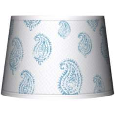 Paisley Snow Tapered Lamp Shade 10x12x8 (Spider)