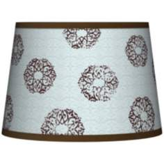 Weathered Medallion Tapered Lamp Shade 10x12x8 (Spider)