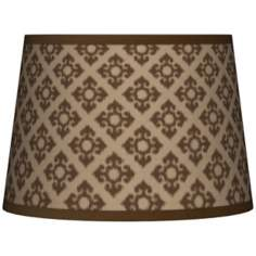 Grevena Giclee Pattern Tapered Lamp Shade 10x12x8 (Spider)