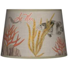 La Mer Coral Tapered Lamp Shade 10x12x8 (Spider)