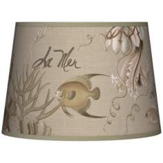 La Mer Jellyfish Tapered Lamp Shade 10x12x8 (Spider)