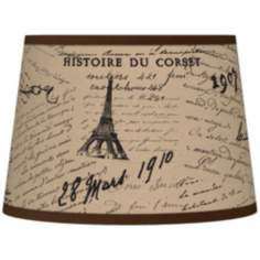Letters to Paris Giclee Tapered Lamp Shade 10x12x8 (Spider)